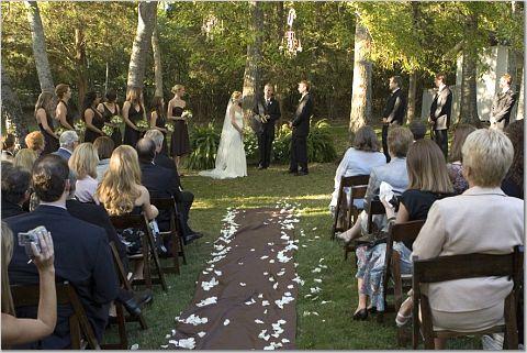 Nashville Back Yard Wedding Ceremony